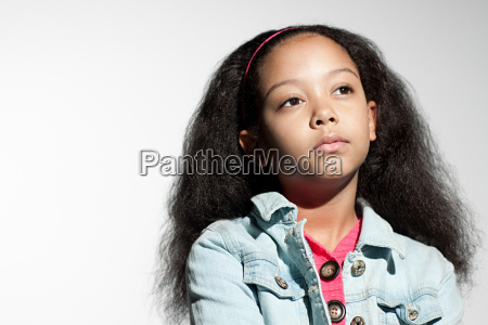 girl looking serious
