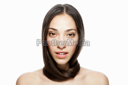 woman with long hair wrapped around