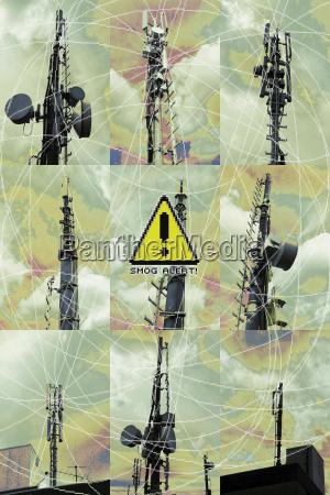 pericolo industria nuvola minaccia segnale di