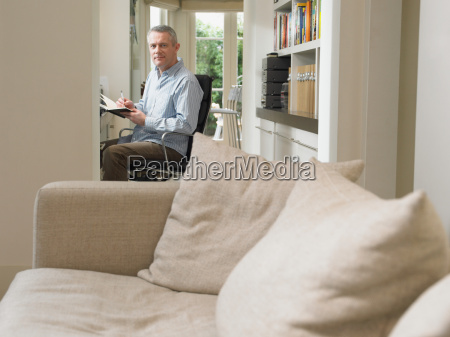 mature man at home