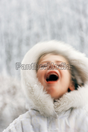 blurred girl laughing