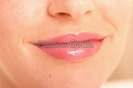 smiling lips of young woman