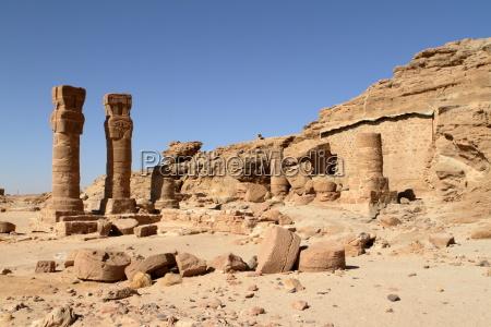 tempio egitto rovine sudan