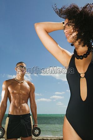 a young man and woman on