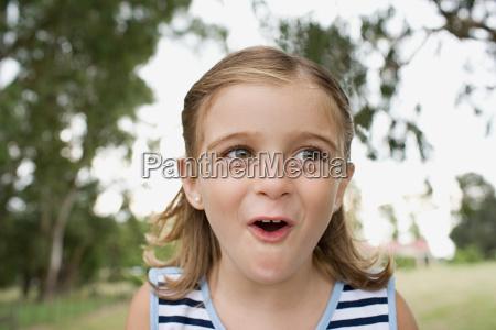 surprised looking girl