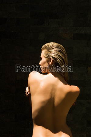 rear view of naked woman