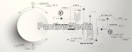 vettore astratto tecnologia di base innovazione