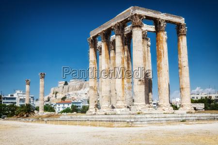 antico tempio di zeus ad atene