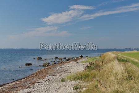 fehmarn island on the beach of