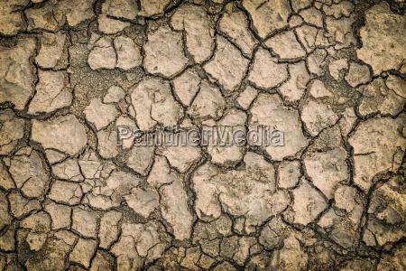 sfondo del terreno crepa secco