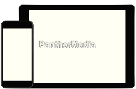 vector mock up phone and tablet