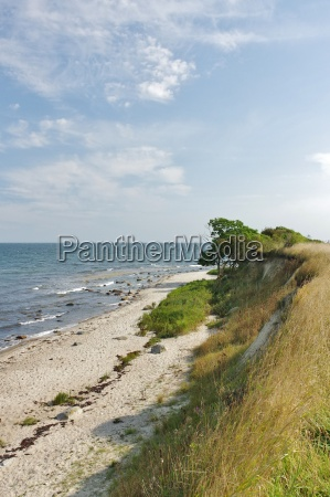fehmarn island the cliffs to the