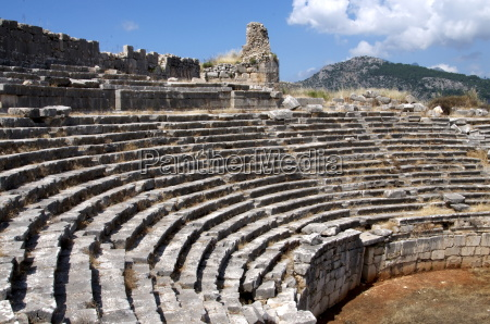 the amphitheatre at the lycian site