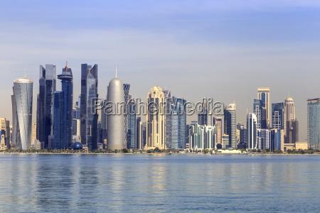 modern city skyline of west bay