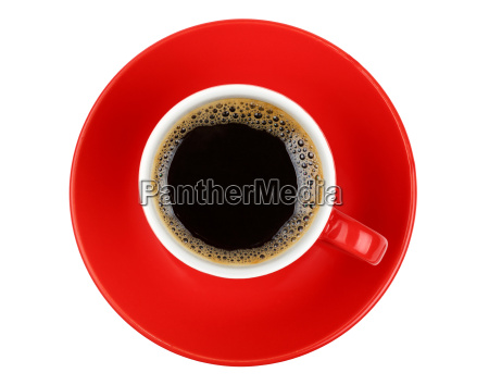 americano, coffee, in, red, cup, isolated - 19113785