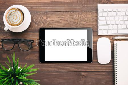 digital tablet blank screen on work