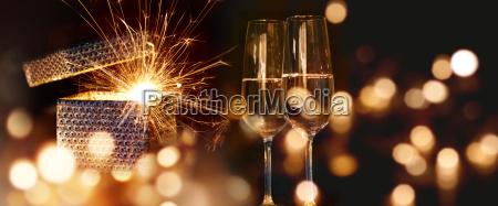 luce regalo spumante champagne san silvestro