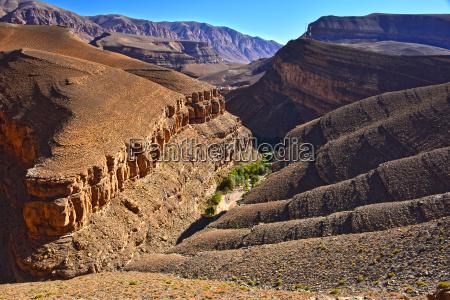 vista paesaggistica delle alte montagne dellatlante