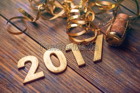 2017 anno numero di legno