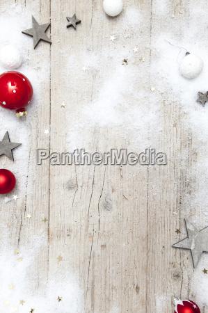 weihnachtlicher sfondo grigio in legno con