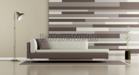 contemporary lounge with sofa and decorative
