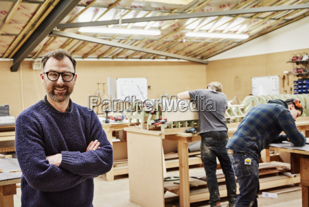 a furniture workshop making bespoke contemporary