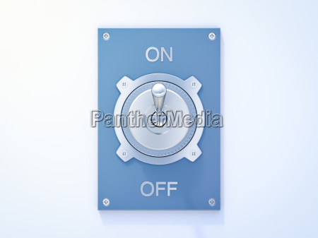 interruttore blu di vibrazione su fuori