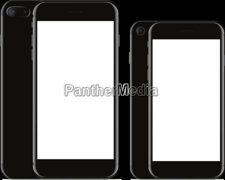 vector drawing mockup phone front and