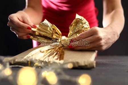 imballaggio regali di natale