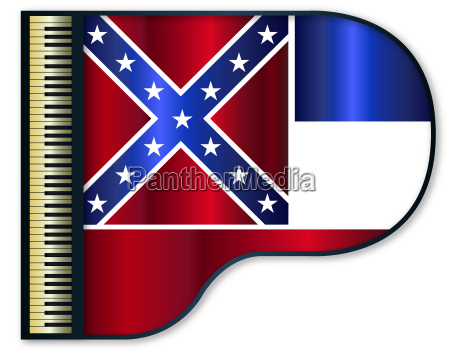 grand piano mississippi flag