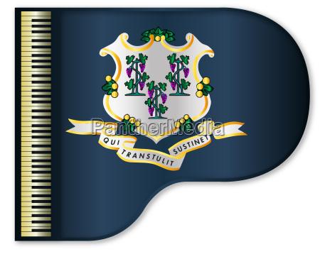 grand piano connnecticut flag
