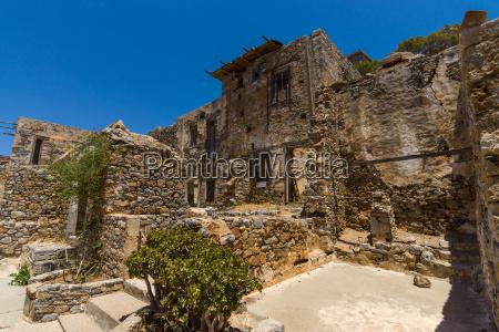 grecia rovina rudere fortezza rovine isola