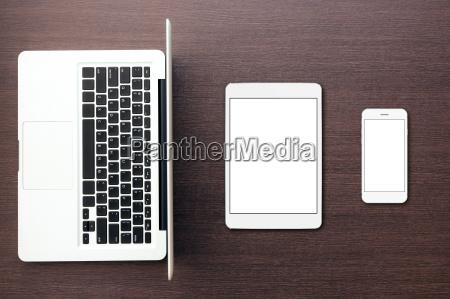 telefono portatile computer pastiglia compressa tabella