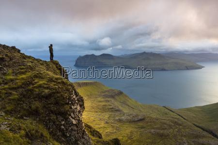 sornfelli vagar island in background faroe