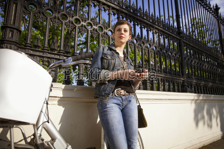 young adult woman using mobile phone