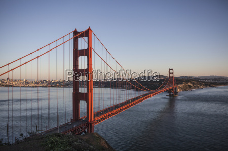 elevated view of the golden gate