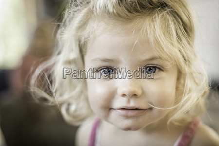 close up of baby girls face