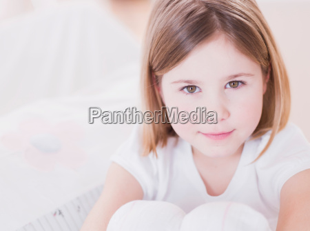 young girl looking at viewer