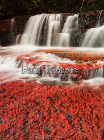 the colourful jaspe falls water erosion