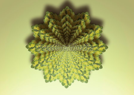 fractal image of lemon balm plant