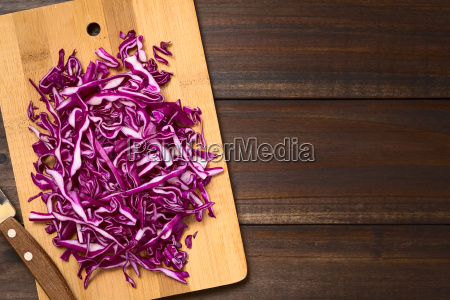 raw red cabbage
