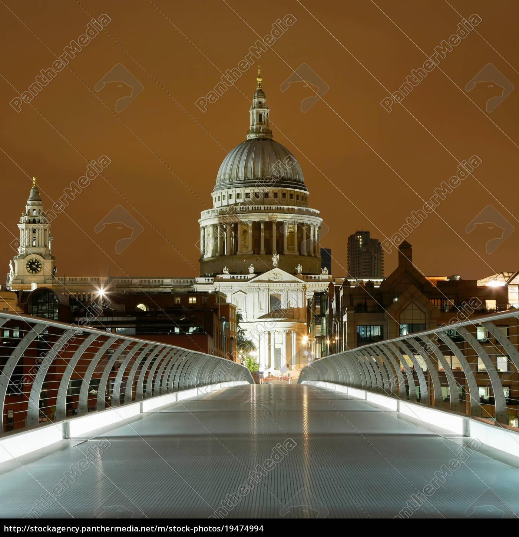 st., paul's, and, millennium, bridge, londra - 19474994