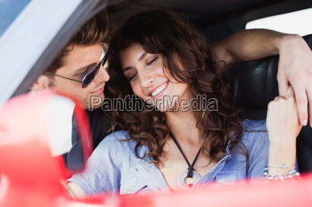 couple sitting in car