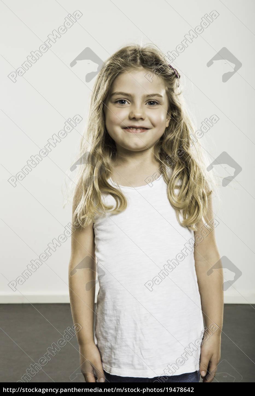 ritratto, studio, di, ragazza, carina, con - 19478642