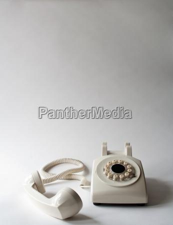 white telephone off the hook studio