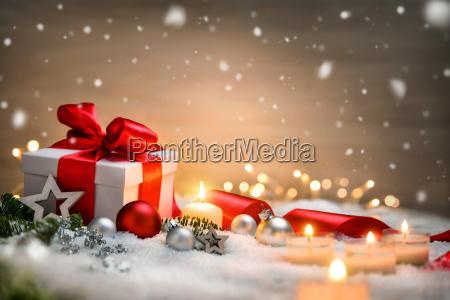 fondo di natale con il regalo