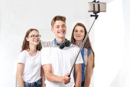 selfie a scuola selfie un gruppo