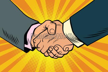 stretta di mano di affari partenariato