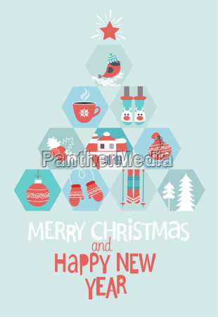 natale e capodanno greeting card