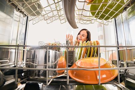 donna casa costruzione cucina pulito equipaggiamento